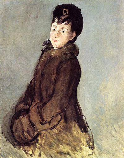 Isabelle Lemonnier with a Muff Edouard Manet