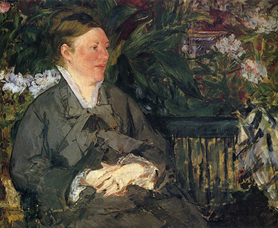 Madame Manet in Conservatory Edouard Manet