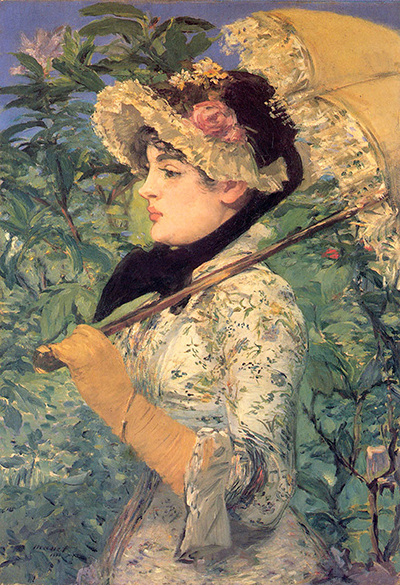 Spring Study of Jeanne Demarsy Edouard Manet